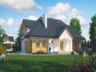 Проект жилого дома с мансардой и гаражом